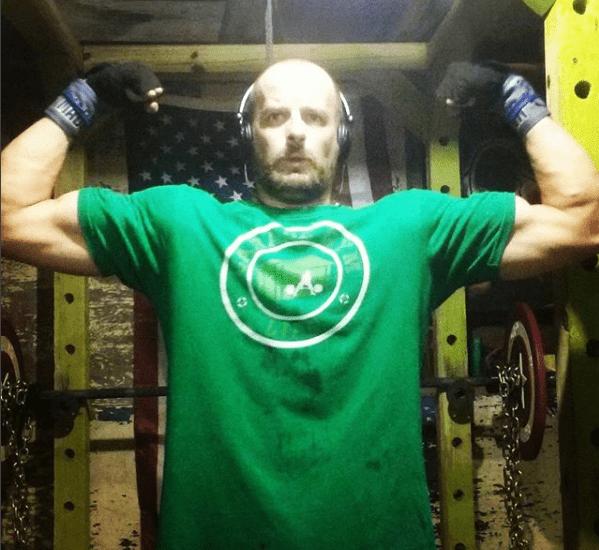 Green Garage Gym Life logo shirt