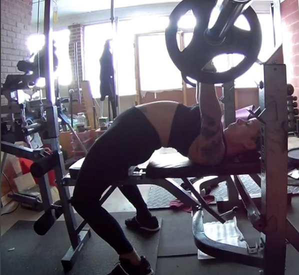 yoga has improved Marisol's bench press arch