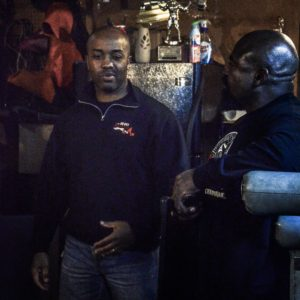 Garage Gym Magazine founder John Greaves interviewing Hall of Famer Steve Goggins