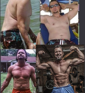 Charles Forbus showing the ups and downs of his transformation