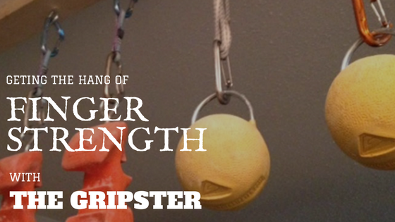 feature article on the Gripster 2.0 rock climbing training tools