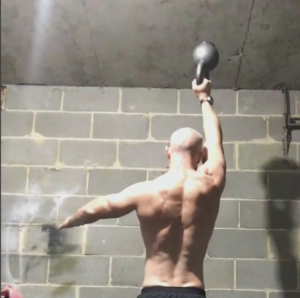 Kettlebell work helped Dave Atkins recover from a back injury