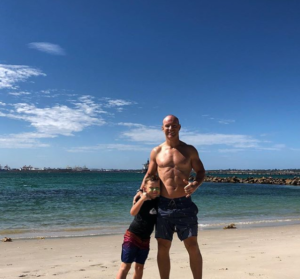 Dave Atkins stays in shape to be able to enjoy life with his son