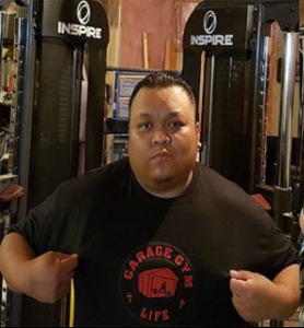 Alvin Remoroza in his basement gym