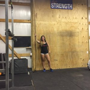 Anna Woods makes use of the business opportunity she has by having a barn gym