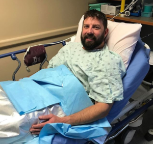 Paul Walsworth after hernia surgery