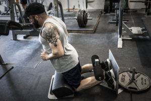 side view of Brian Schwab using The Home Glute Ham Raise