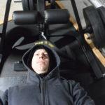 Joe Gray testing a normal flat bench