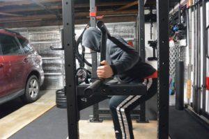 Joe Gray using the Edge Fitness Cambered Squat Bar