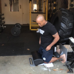 John Greaves III using the Home GHR in his Garage Gym