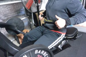 Mag Grips being used in a low pulley row