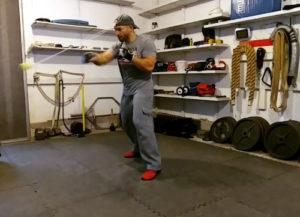 Ross Enamait doing ball drills