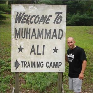 Ross Enamait at Muhammad Ali's Deer Lake training camp