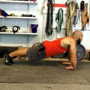 Ross Enamait doing wrist pushups