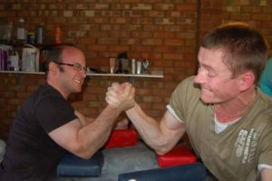 Jerome Bloom armwrestling