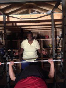 Iron Mike and Mrs Reid training