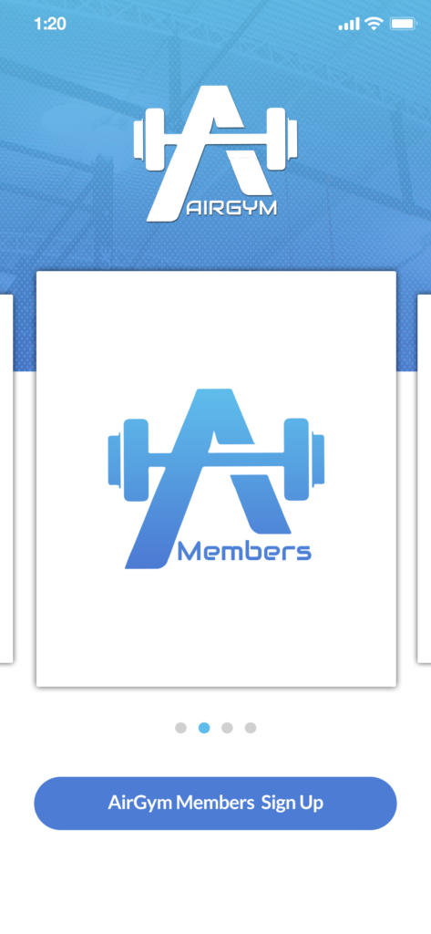Members area of Airgym app, a new option to timeshare your homegym