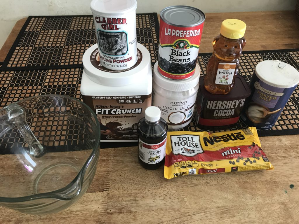 list of ingredients for an easy homemade protein bar recipe