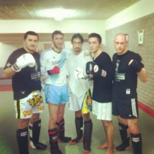 Tim Geurts after a Muay Thai training session