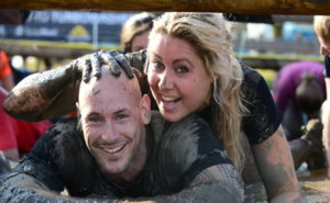 Tim Geurts and Chantal Lekkerkerker at a recent obstacle course race. Relationship goals.