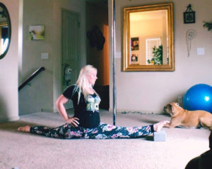 Brandis Atwood uses yoga to prepare for pole fitness training