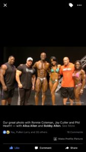 Bobby Allen with Ronnie Coleman, Jay Cutler and Phil Heath!