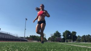 non-surgical shoulder rehab led to other changes in Anna Woods' normal training