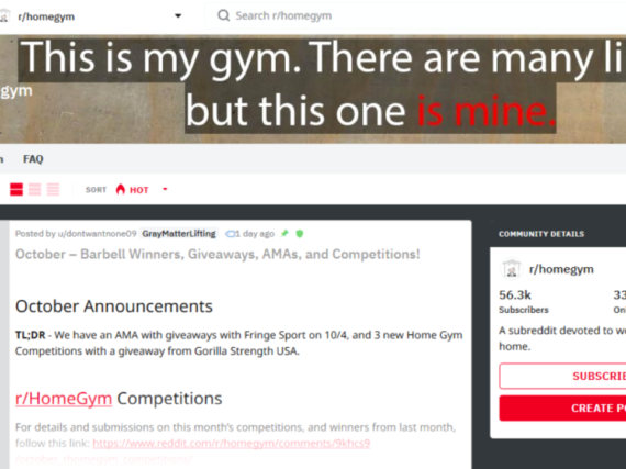 Everything You Need To Know About r/HomeGym on Reddit